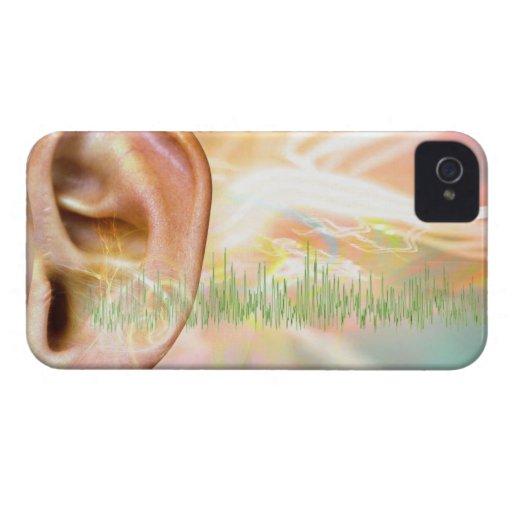 Tinnitus, conceptual computer artwork. iPhone 4 covers