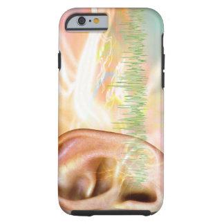 Tinnitus, conceptual computer artwork. tough iPhone 6 case