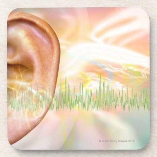 Tinnitus, conceptual computer artwork. coaster