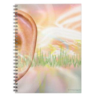 Tinnitus, conceptual computer artwork. notebook