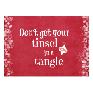 Tinsel in a Tangle Christmas Quote Pack Of Chubby Business Cards