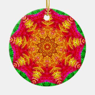 Tinsel Star Fractal Christmas Ornament