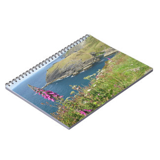 Tintagel castle spiral note book