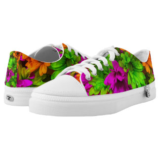 Tinted Bright Flowers Low Tops