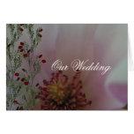 Tinted Heart Wedding Flower Greeting Card