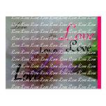 Tinted Heart Wedding Flower Postcard