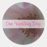 Tinted Heart Wedding Flower Stickers