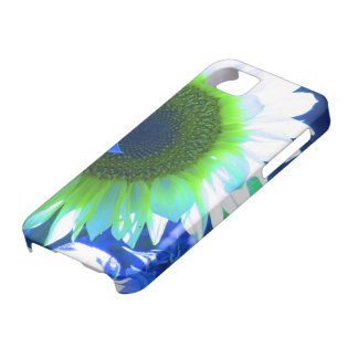 tinted pretty sunflower - blue case for the iPhone 5