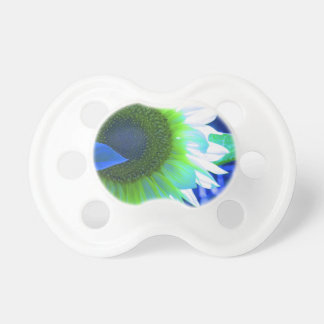 tinted pretty sunflower - blue pacifiers