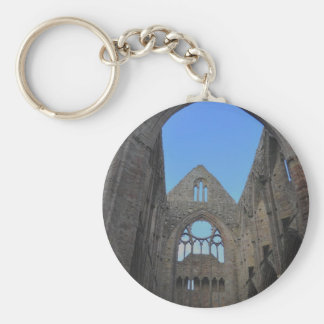 Tintern Abbey, Cistercian Monastery, Wales Basic Round Button Key Ring