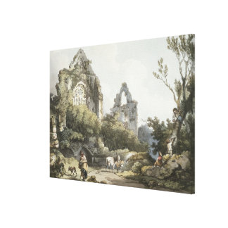 Tintern Abbey, from 'The Romantic and Picturesque Canvas Print