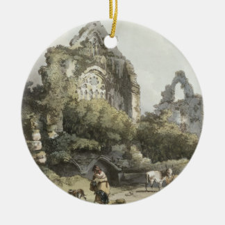 Tintern Abbey, from 'The Romantic and Picturesque Round Ceramic Decoration