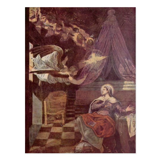 Tintoretto art postcard