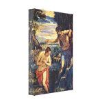 Tintoretto - Baptism of Christ Canvas Print