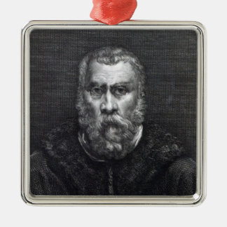 Tintoretto, engraved by Delaistre Christmas Ornament