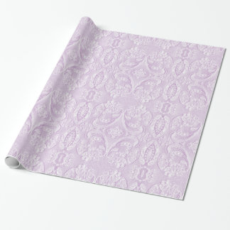 Tints of Lavender Ornate Lace Wrapping Paper