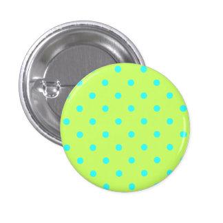 Tiny Aqua Polka Dots Button