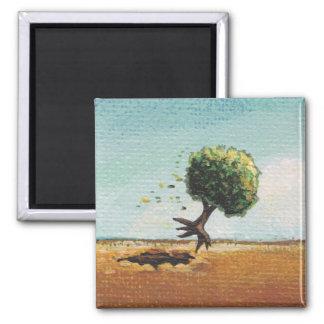Tiny Art #601 Fun flying tree art adventure travel Magnet