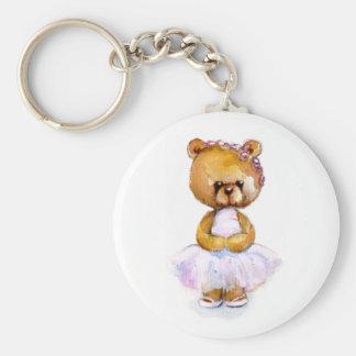 Tiny Ballerina Bear Key Chain