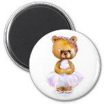 Tiny Ballerina Bear Magnet