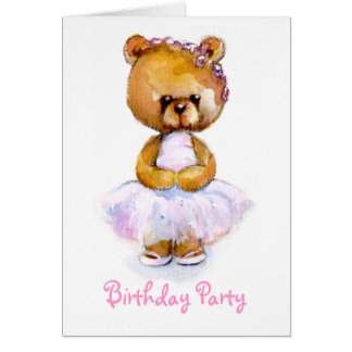 Tiny Ballerina Birthday Party Invitation
