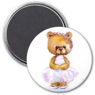 Tiny Ballet Bear Magnet