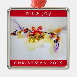 """Tiny Bells"" Christmas Hummingbirds Christmas Ornament"