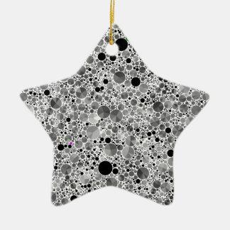 Tiny Black Grey Bling Pattern Ceramic Star Decoration