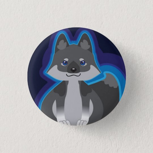 Tiny Black Wolf button