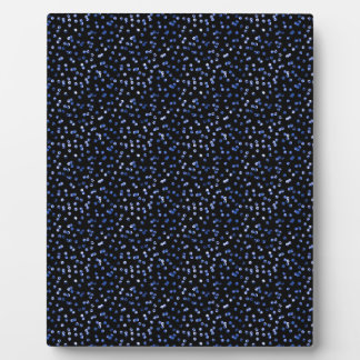 Tiny Blue Confetti Display Plaques