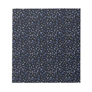 Tiny Blue Confetti Notepad