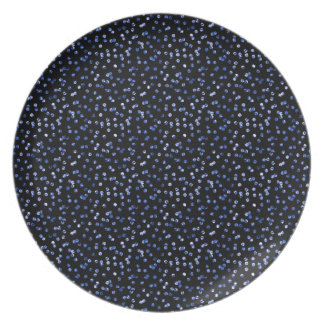 Tiny Blue Confetti Plate
