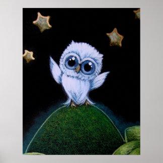 "TINY BLUE OWL STARS 16"" x 20"" Poster Paper (Matte)"