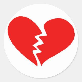 Tiny Broken Heart Round Sticker