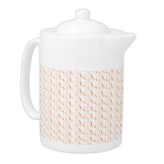 Tiny Brown Pattern Teapot