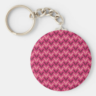 tiny chic doodle leaves design basic round button key ring