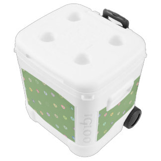 Tiny color hearts igloo roller cooler