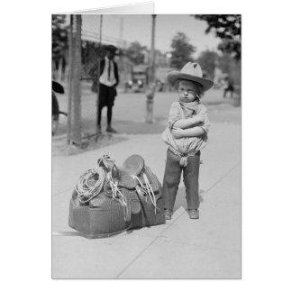 Tiny Cowboy, 1923 Card