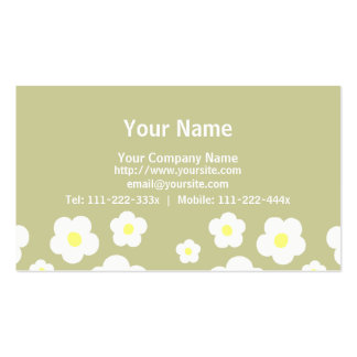 Tiny Cute Flowers C Business Card Template