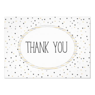 Tiny cute heart Thank you card modern coils