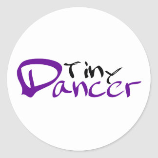 Tiny Dancer Round Stickers