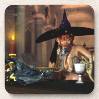 Tiny dragon magic Cork Coaster