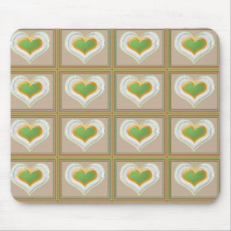 Tiny Emerald Green HEARTS : Gift n WIN a Heart Mouse Pad