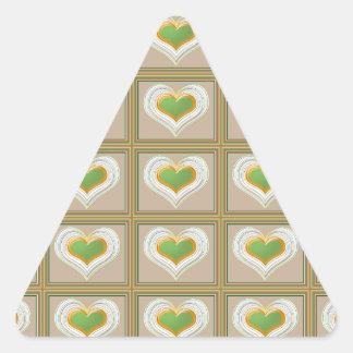 Tiny Emerald Green HEARTS : Gift n WIN a Heart Triangle Sticker
