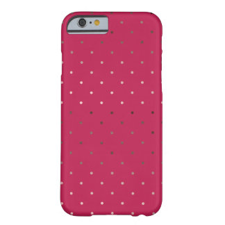 tiny faux rose gold foil pink polka dots pattern barely there iPhone 6 case