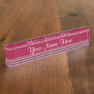 Tiny Flowers and Stripes Name Plates
