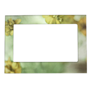 Tiny Flowers Yellow Magnetic Picture Frame