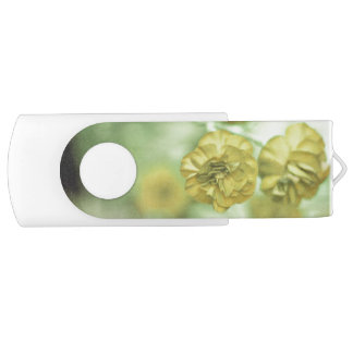 Tiny Flowers Yellow USB Flash Drive