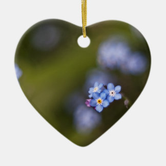Tiny forget me not flower christmas ornament