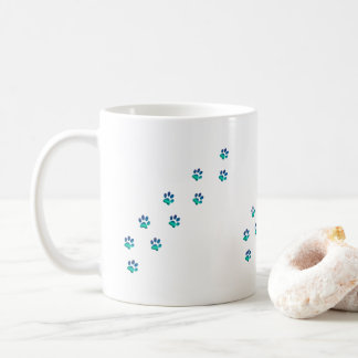 Tiny Funny Dog Pawprints Footprints Coffee Mug